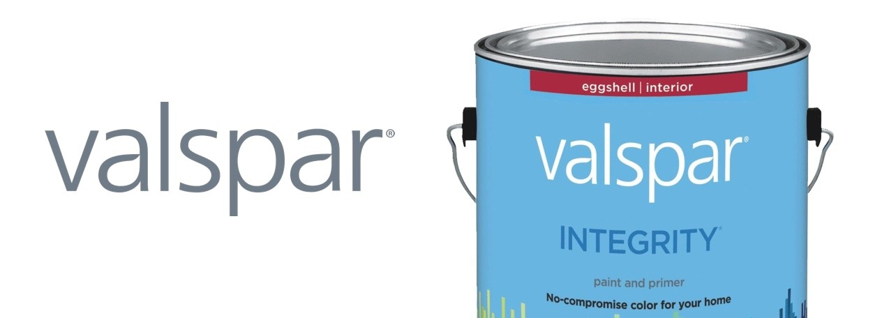 Valspar Integrity paint can with logo