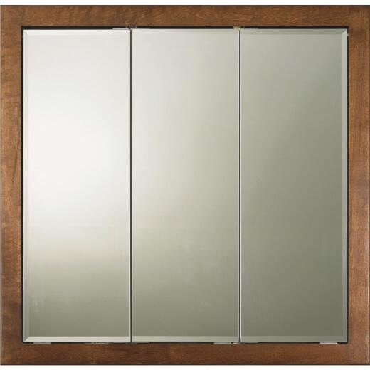Bertch Osage Brindle 34 In. W x 33 In. H x 4-1/4 In. D Tri-View Surface Mount Medicine Cabinet