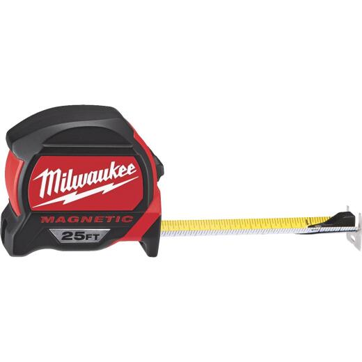 Milwaukee 25 Ft. Magnetic Tape Measure with Blueprint Scale