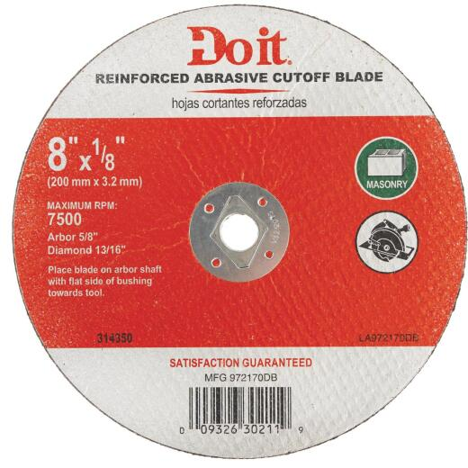 Do it Type 1 8 In. x 1/8 In. x 5/8 In. Masonry Cut-Off Wheel