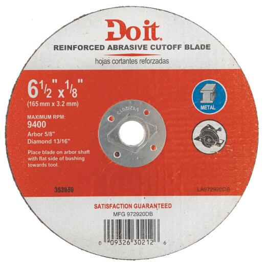 Do it Type 1 6-1/2 In. x 1/8 In. x 5/8 In. Metal Cut-Off Wheel