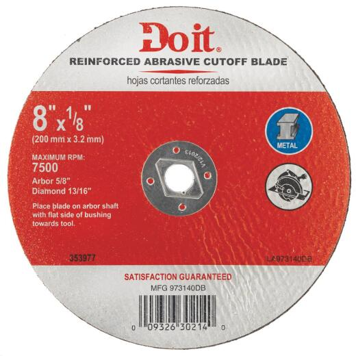 Do it Type 1 8 In. x 1/8 In. x 5/8 In. Metal Cut-Off Wheel