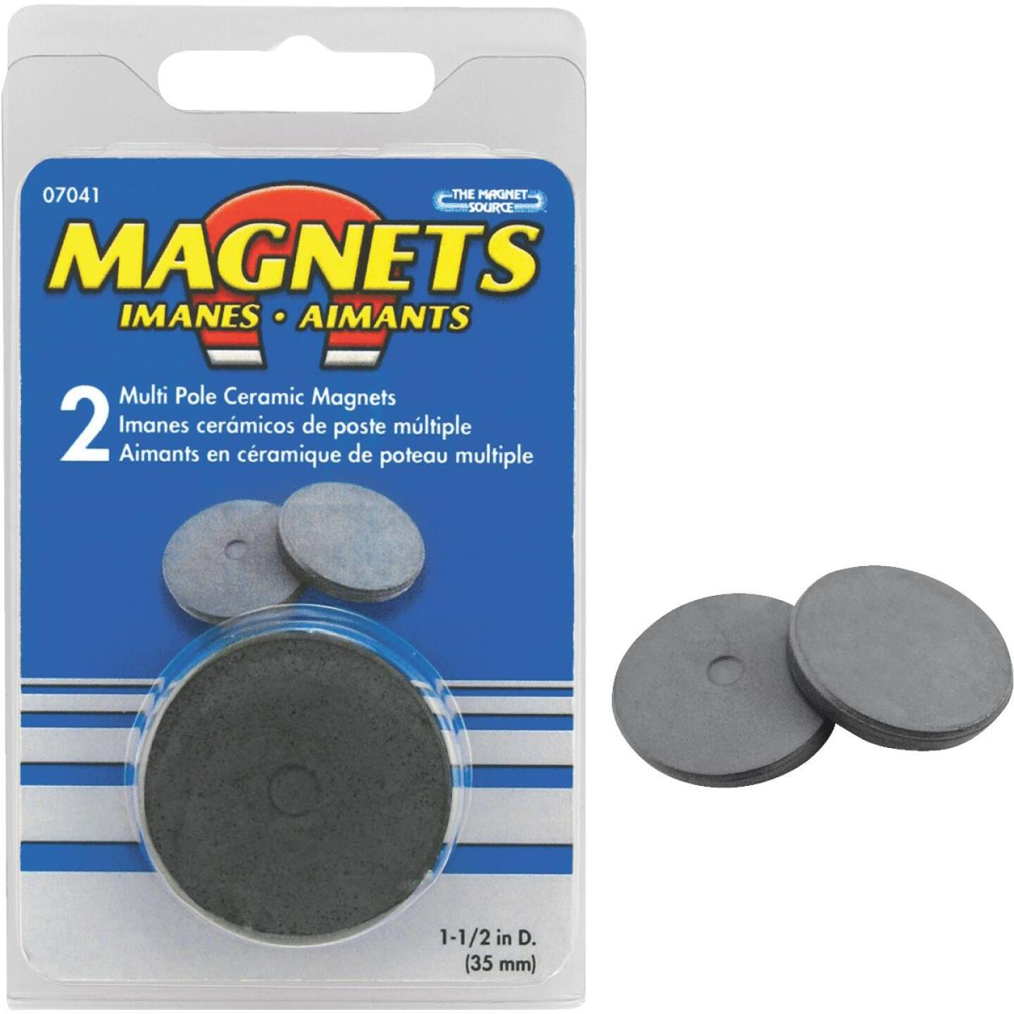 Master Magnetics 1-1/2 In. Multi Pole Ceramic Magnet Disc Image 1