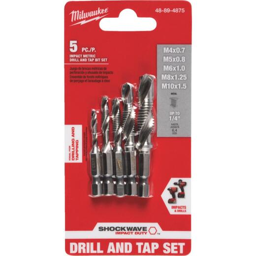 Milwaukee Shockwave Metric Impact Drill Tape Bit Set (5-Piece)