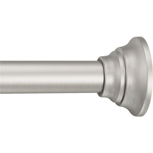 Moen Straight 44 In. To 72 In. Adjustable Tension Shower Rod in Brushed Nickel
