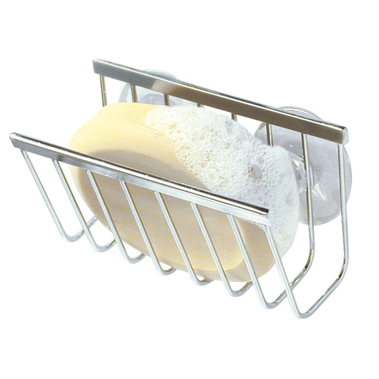InterDesign Sinkworks Suction Soap & Sponge Holder Image 1