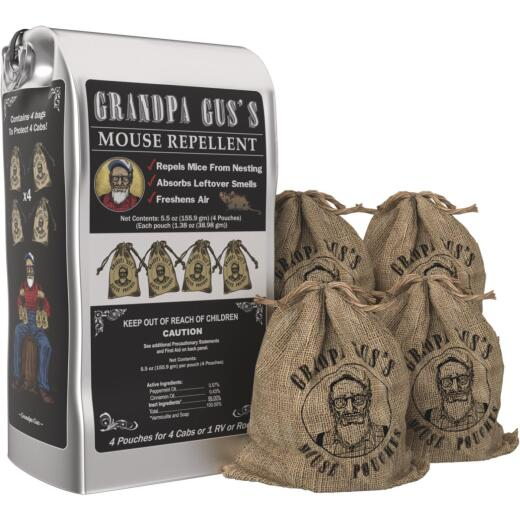 Grandpa Gus's Granular All Natural Mouse Repellent Pouch (4-Pack)