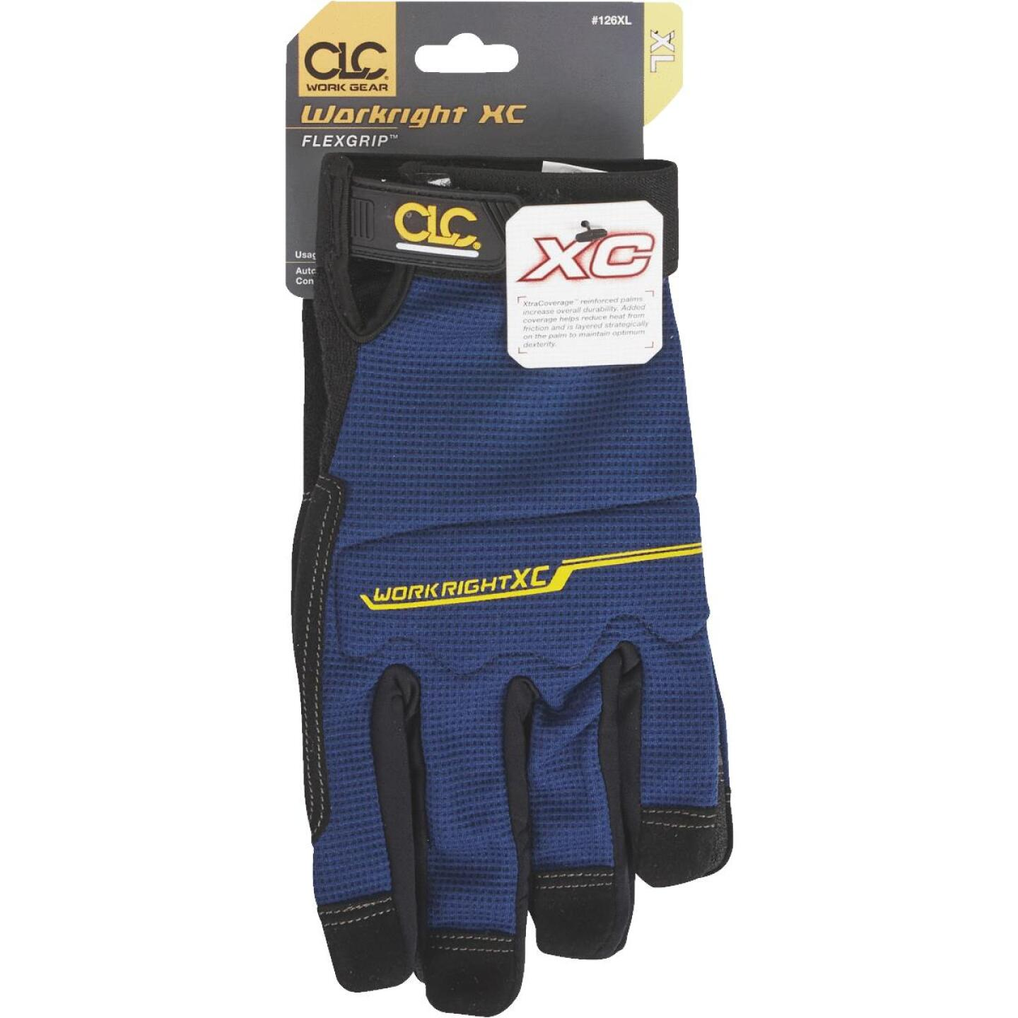 CLC Workright XC Men's XL Synthetic Leather Flex Grip High Performance Glove Image 2