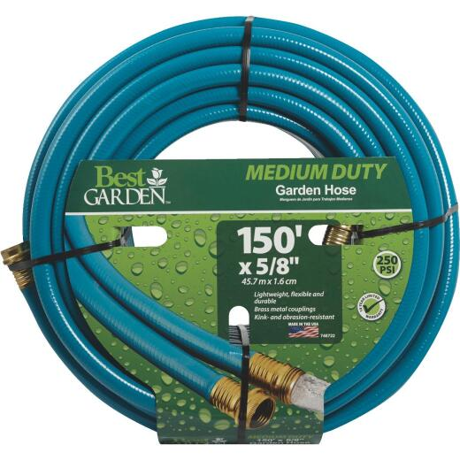 Best Garden 5/8 In. Dia. x 150 Ft. L. Medium-Duty Rubber & Vinyl Garden Hose