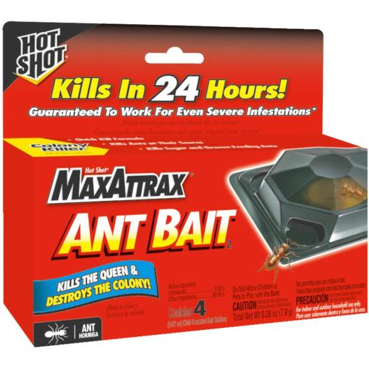 Hot Shot MaxAttrax 0.28 Oz. Solid Ant Bait Station (4-Pack)