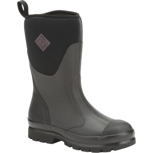 Muck Chore Mid Women's Size 6 Black Rubber Pull-On Boot