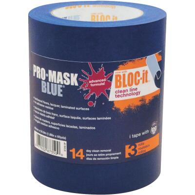 IPG ProMask Blue 1.88 In. x 60 Yd. Bloc-It Masking Tape (3-Pack)
