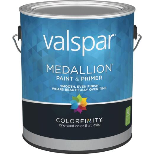Valspar Medallion 100% Acrylic Paint & Primer Semi-Gloss Interior Wall Paint, White, 1 Gal.
