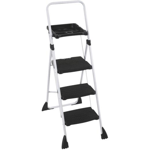 Cosco TriStepPlus Tubular Steel Platform Ladder with 225 Lb. Load Capacity Type II Ladder Rating